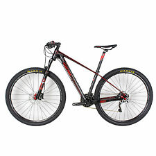 "Full Carbon Fiber MTB Bike 30 Speed Oil Brake 29er 11.5kg Bicycle 15.5""/17""19"""