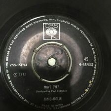 "JANIS JOPLIN move over/get it while you can 45 7"" RARE SINGLE INDIA INDIAN VG"