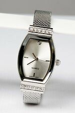 New Avon Silver & Faux Diamond GORGEOUS MESH WATCH - Adjustable
