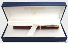 WATERMAN PREFACE RED MARBLE  & GOLD ROLLERBALL PEN NEW IN BOX