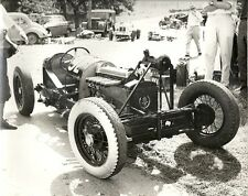 SINGLE SEATER SPORTS CAR WITH BUGGATI OWNERS CLUB BADGE TO RADITOR PHOTOGRAPH.