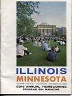 1963 ILLINOIS VS MINNESOTA   FOOTBALL PROGRAM-.EX-MT