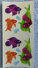 Sandylion BETA  FISH Strip of 2 Sqs RETIRED Sparkle Stickers OUT OF PRINT