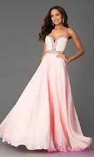 Sherri Hill Strapless Sweeetheart Neckline A Line Blush Prom Dress 4 Gown 32071