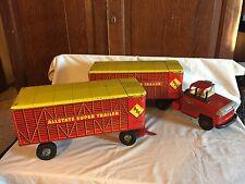 Marx Allstate Super Double Trailer Truck Livestock Road Train Sears Exclusive