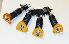 EMUSA GOLD HEIGHT ADJUSTABLE COILOVERS LOWERING NON DAMPENING SUBARU WRX 02-07