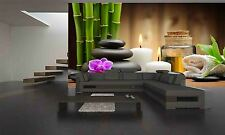 Stones,Orchid,Bamboo Wall Mural Photo Wallpaper GIANT WALL DECOR PAPER POSTER