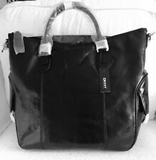 DKNY Ladies POLISHED CALF LEATHER  With Side Pockets Black Colour