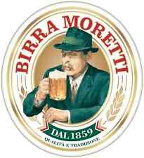 "Birra Moretti Beer Alcohol Car Bumper Window Locker Sticker Decal 4""X5"""