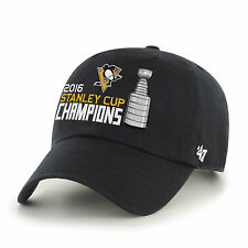 Pittsburgh Penguins 47 Brand 2016 Stanley Cup Champions Black Adjustable Hat Cap