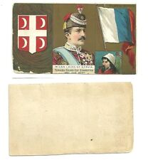 Turkish cross cut cigarette tobacco card milan king of servia coat of arms