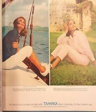 """Vintage Tampax Advertisement from 1963 """"Good Housekeeping"""" Magazine"""