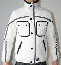 Gio-Goi Vega Men's White Black Soft Shell Windproof Insulated Designer Jacket M