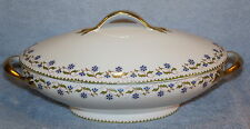 "Tressemanes & Vogt T V Longchamps Oval Covered Casserole Dish  12"" x 7"" Limoges"