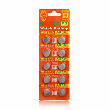 10PCS AG10 LR1130 389 LR54 SR54 SR1130W 189 Button Cell Coin Watch Batteries