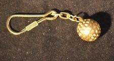 Solid Brass Key Chain Golf Ball Purse Bag Fob Charm NEW Keychain Golfer Gift