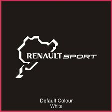 Renaultsport Nurburgring Race Circuit Decal, Track,Vinyl, Sticker,Graphics N2019