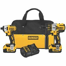 DEWALT DCK296M2 20V Li-Ion 4.0 Ah Brushless Hammer Drill and Impact Driver Kit