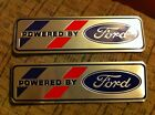 FORD MUSTANG SHELBY COBRA GT GT40 SUNBEAM TIGER POWERED BY FORD PLAQUES 2x