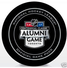 NHL OFFICIAL GAME PUCK HOCKEY 2017 Centennial Alumni Outdoor Game TORONTO - Rare
