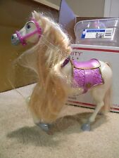 BARBIE DOLL DISNEY PRINCESS MAXIMUS TANGLED HORSE w/ SADDLE