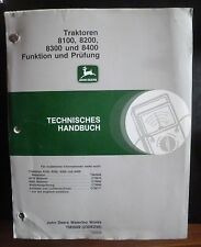 John Deere Werkstatthandbuch 8100 + 8200 + 8300 + 8400 Funktion und Prüfung