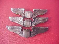 ORIGINAL WWII USAAF LOT OF 3 FULL SIZE PILOT WINGS