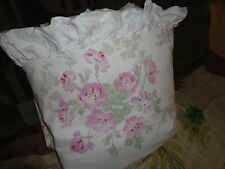 SIMPLY SHABBY CHIC ESSEX PINK FLORAL STRIPE RUFFLED FULL/QUEEN DUVET COUNTRY