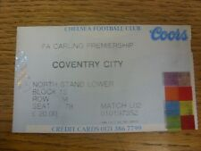 24/08/1996 Ticket: Chelsea v Coventry City [Ticket Is Specific To Game (Match Co
