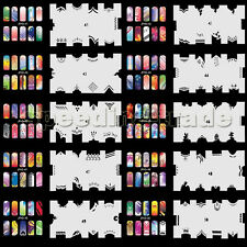 Set3 20x Airbrushing Template Sheet Stencil for Airbrush Kit Nail Art Paint JFH3