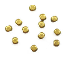 20 Antique Gold Plated Roundish Square Metal Spacer Beads 4MM