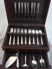 DAMASK ROSE BY ONEIDA STERLING SILVER FLATWARE SET SERVICE 37 PIECES
