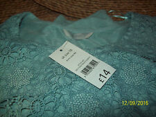 """""""MINT"""" COLOUR FLORAL EMBROIDARY SLEEVELESS TOP"""