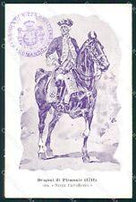 Militari Dragoni di Piemonte Nizza Cavalleria I Reggimento cartolina QT7936