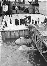 WW2 - CP - Pont de bateaux britannique à Gold Beach