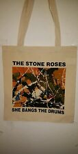 Stone Roses-'She bangs the drums' Tote Bag- Cream Cotton-Unisex-Brand New