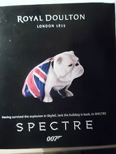 Royal Doulton James Bond Spectre Jack the Bulldog Figurine Authentic NEW IN BOX