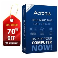 Acronis True Image 2015 For PC & Mac - 5 Computers (SEALED, NEW, not 2016)