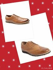 ORIGINAL PENGUIN SZ 8.5 Brown Leather Wingtip 'Dude' Oxfords Shoes New