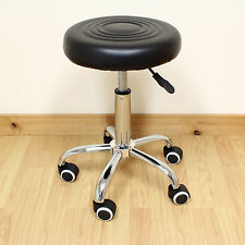 ADJUSTABLE ROUND SWIVEL CHAIR STOOL TATTOO/NAIL TECHNICIAN/HAIRDRESSER/HAIR CUT