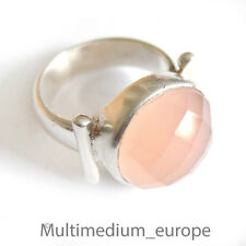 Ring Silber Rosenquarz facettiert massiv  silver ring rose quartz faceted De