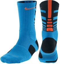 Nike Elite Sequalizer Crew Socks - Photo Blue/Black/Electro Orange - LARGE - NWT