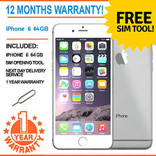 Apple iPhone 6 64GB Factory Unlocked - White/Silver