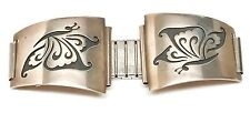 Old Pawn Hopi Handmade Sterling Silver Watch Tips