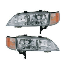94-97 Honda Accord Headlight Assembly Driver Passenger Side Pair