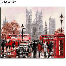 london picture Oil Painting Home Decor DIY Paint By Number Kit On Canvas 40X50cm