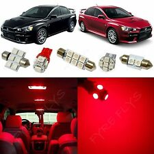6x Red LED Lights Interior Package Conversion Kit for Lancer Evo X #ML3R
