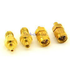 10set SMA to MMCX Kits Adapter 4 type male Plug to female Connector Antenna Coax