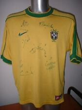 Brazil Signed Shirt Jersey Soccer Nike Adult Medium 1998 Top Brasil Rivaldo