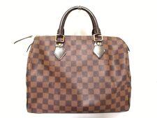 Authentic LOUIS VUITTON Damier Speedy 30 N41531 Ebene Handbag SP0966